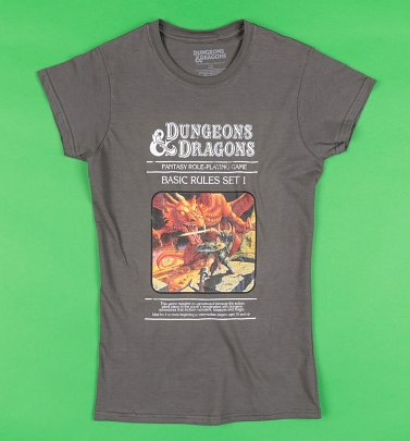 Women's Charcoal Dungeons and Dragons Game T-Shirt