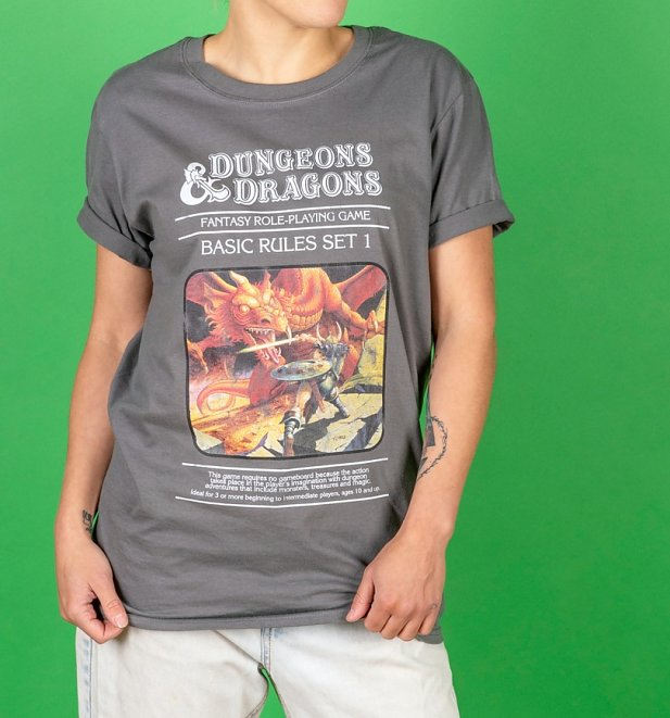 Women's Charcoal Dungeons & Dragons Game T-Shirt
