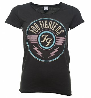 Women's Charcoal Foo Fighters FF Air Logo T-Shirt from Amplified