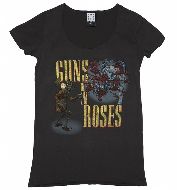 Women's Charcoal Guns N' Roses Appetite Attack T-Shirt from Amplified