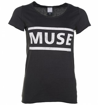 Women's Charcoal Muse Logo T-Shirt from Amplified