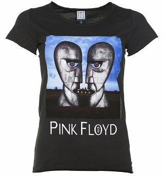 Women's Charcoal Pink Floyd The Division Bell T-Shirt from Amplified