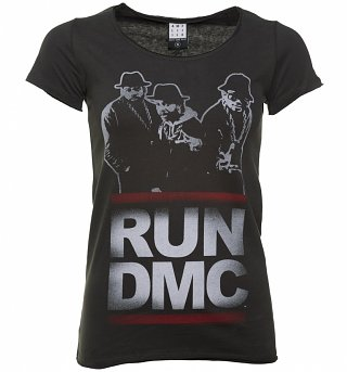 Women's Charcoal Run DMC Silhouette T-Shirt from Amplified