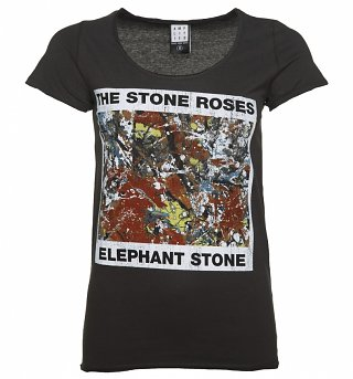Women's Charcoal The Stone Roses Elephant Stone T-Shirt from Amplified