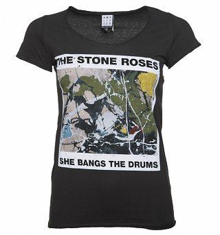 Women's Charcoal The Stone Roses She Bangs T-Shirt from Amplified