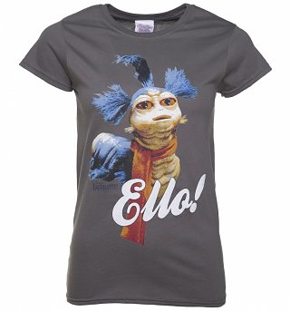 Women's Charcoal Worm Ello Labyrinth T-Shirt