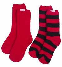 Women's Coca-Coca Striped 2pk Cosy Socks