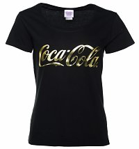 Women's Coca-Cola Gold Foil Logo Scoop Neck T-Shirt