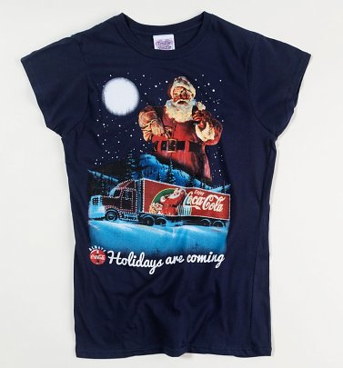 Coca-Cola Holidays Are Coming Damen Weihnachts-T-Shirt