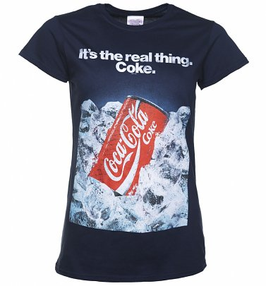 Women's Coca-Cola Retro Advert Navy T-Shirt