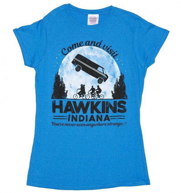 Women's Come and Visit Hawkins Indiana Stranger Things Inspired T-Shirt