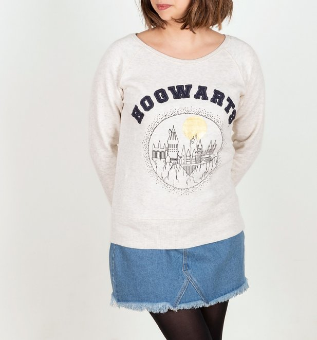 Women's Cream Harry Potter Hogwarts Sweater