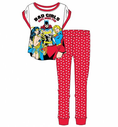 Women's DC Comics Bad Girls Have More Fun Pyjamas