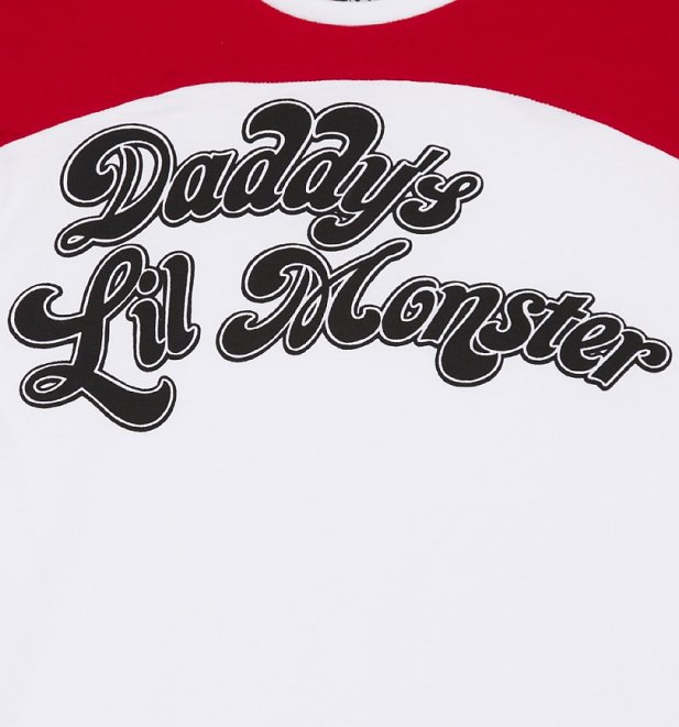 Women's Daddy's Lil Monster Suicide Squad Varsity T-Shirt