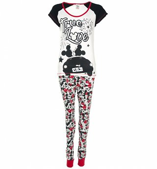 Women's Disney Mickey And Minnie Mouse True Love Pyjamas