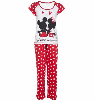 Women's Disney Mickey And Minnie Pyjamas
