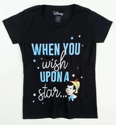 Women's Disney Pinocchio When You Wish Upon A Star T-Shirt