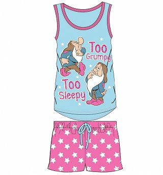 Women's Disney Snow White And The Seven Dwarfs Too Grumpy Too Sleepy Shortie Pyjamas