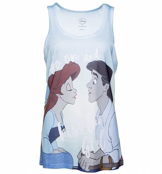 Women's Disney The Little Mermaid Kiss The Girl Sublimation Print Vest