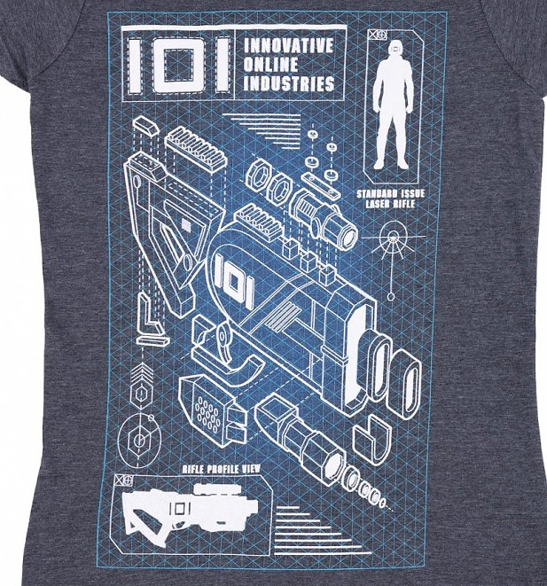 Women's Exclusive Ready Player One Rifle Profile T-Shirt