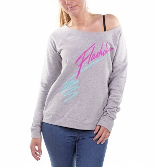 Women's Flashdance Logo Scoop Neck Sweater