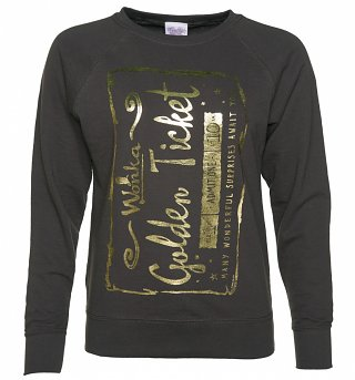 Women's Foil Print Golden Ticket Roald Dahl Sweater