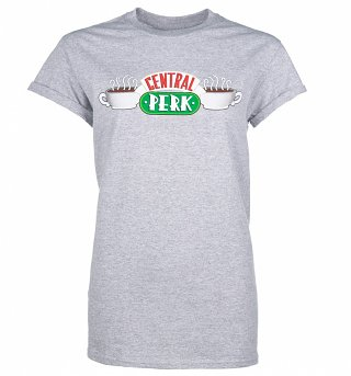 Women's Friends Central Perk Rolled Sleeve Boyfriend T-Shirt