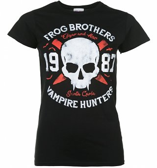 Women's Frog Brothers Vampire Hunters Lost Boys Inspired Black T-Shirt