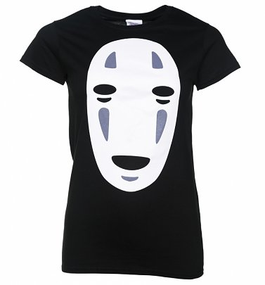 Women's Ghibli No Face Inspired Black T-Shirt