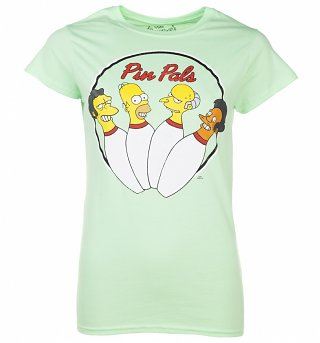 Women's Green Simpsons Pin Pals T-Shirt