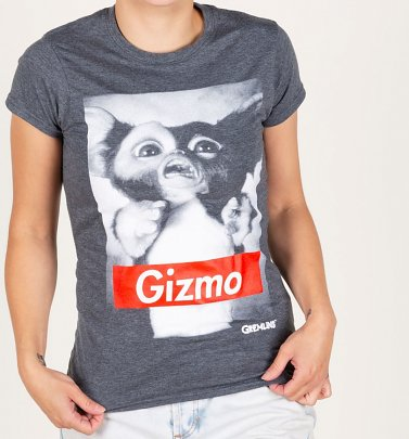 Women's Charcoal Gremlins Gizmo T-Shirt