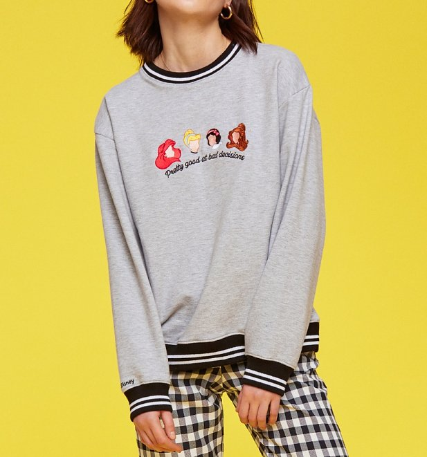Women's Grey Disney Princess Bad Decisions Sweatshirt from Local Heroes
