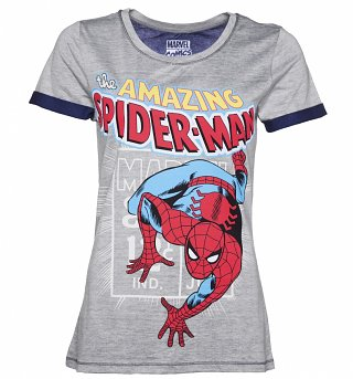 Women's Grey Marl Amazing Spider-Man T-Shirt