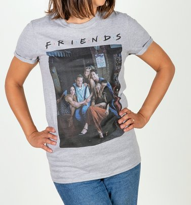Women's Grey Marl Friends Characters Boyfriend T-Shirt