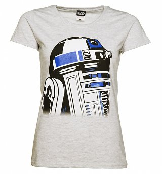 Women's Grey R2-D2 Star Wars T-Shirt