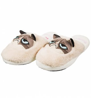 Women's Grumpy Cat Slip On Slippers