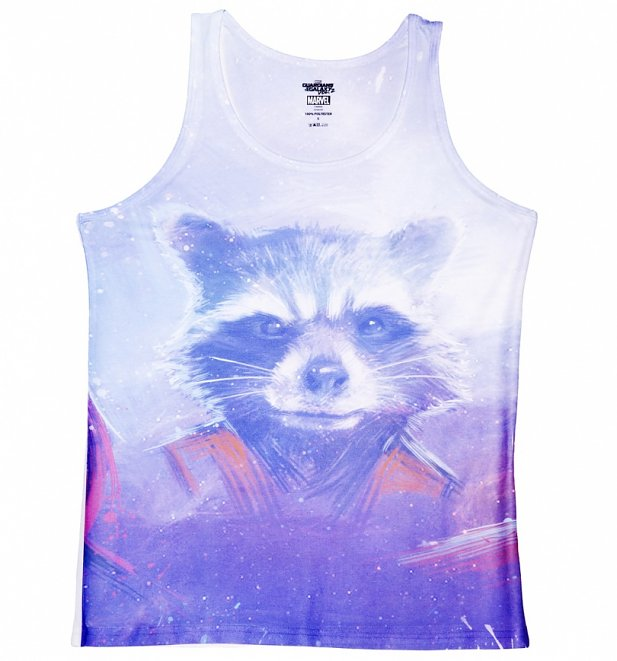 Women's Guardians Of The Galaxy Rocket Raccoon Sublimation Vest