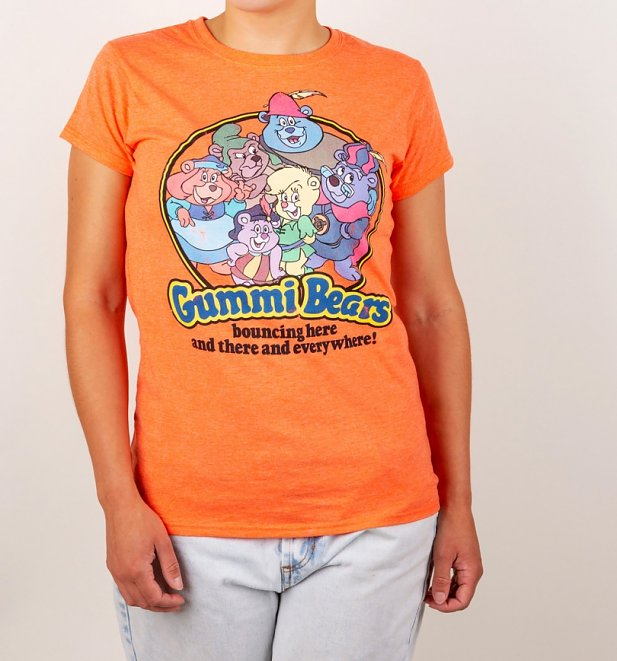 Women's Gummi Bears Heather Orange T-Shirt