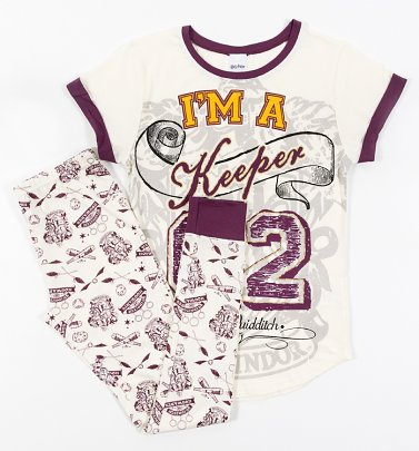 Women's Harry Potter I'm A Keeper Pyjamas