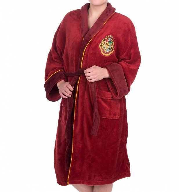 Women\'s Harry Potter Platform 9 3/4 Fleece Dressing Gown