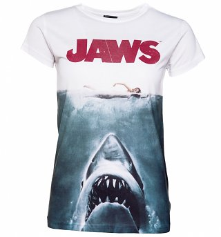 Women's Jaws Movie Poster Sublimation Print T-Shirt