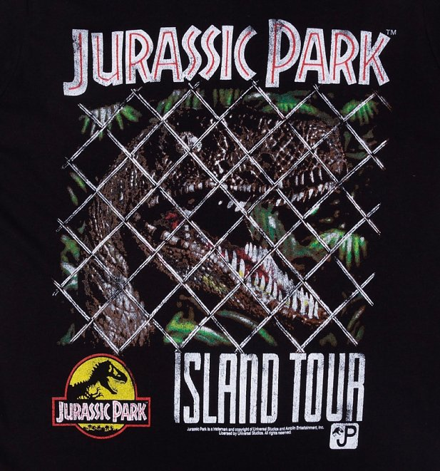 Women's Jurassic Park Island Tour Black T-Shirt