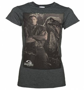 Women's Jurassic World Owen and Raptor T-Shirt