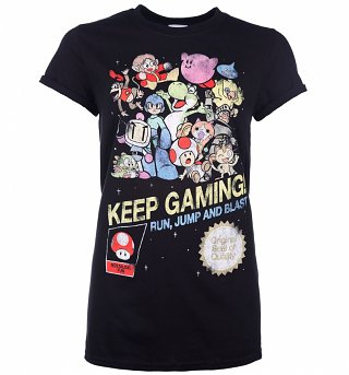 Women's Keep Gaming Boyfriend Fit T-Shirt With Rolled Sleeves