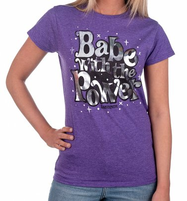 Women's Labyrinth Babe With The Power Heather Purple T-Shirt