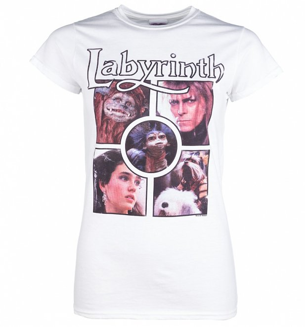 Women's Labyrinth Character Collection White T-Shirt