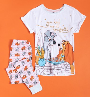 Women's Lady And The Tramp Spaghetti Disney Pyjamas