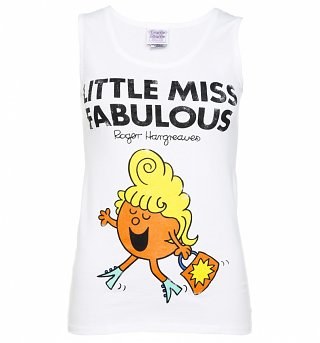 Women's Little Miss Fabulous White Vest