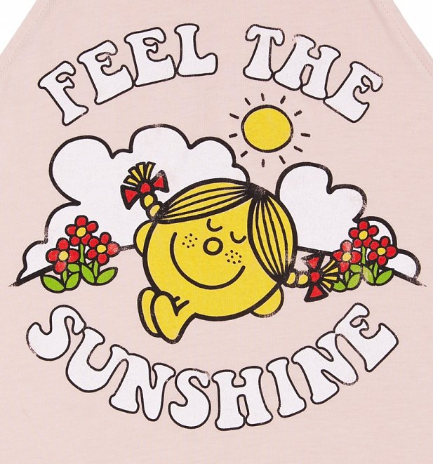 Women's Little Miss Sunshine Feel The Sunshine Peach Flowy High Neck Tank