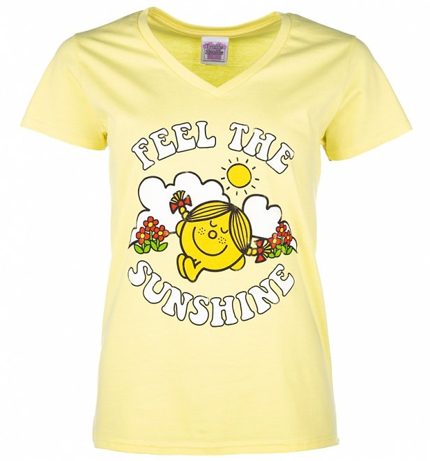 Women's Little Miss Sunshine Feel The Sunshine V-Neck T-Shirt